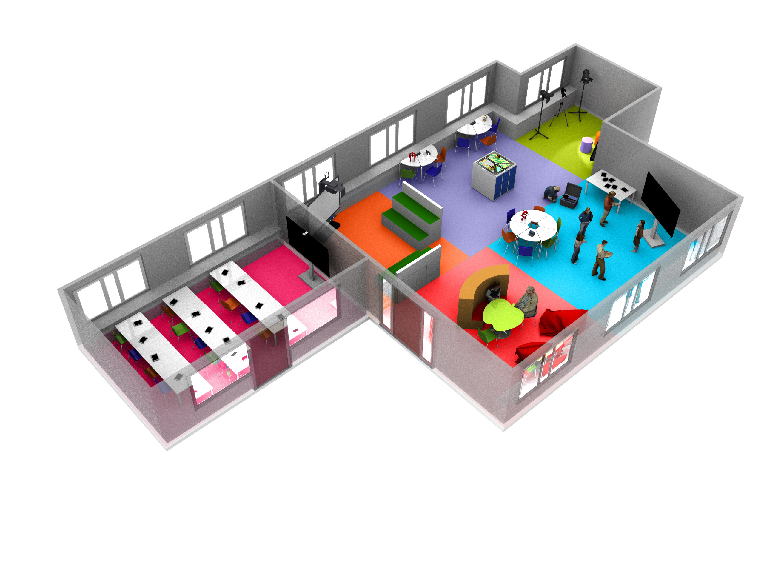 Future Classroom Lab - 3D model