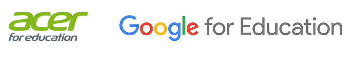 Acer and Google logos